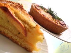 fetta crostata mele e rosmarino
