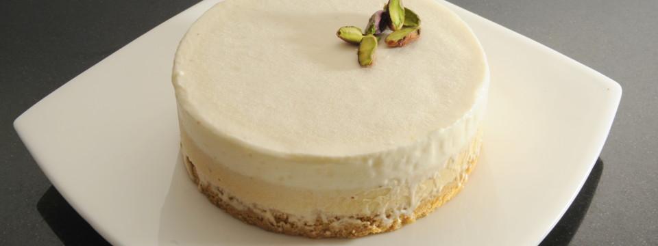 Erst for E   (Po Dodo) – semifreddo al pistacchio, cioccolato bianco e fave tonca